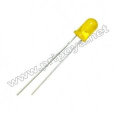 Светодиод желтый 5 мм. 1,95V, 5mA