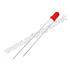 Светодиод красный 3 мм. 1,8V, 5mA