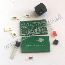 Сигнализатор звуковой и световой 7-18 вольт. КИТ набор