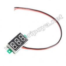 Цифровой вольтметр постоянного напряжения 3-30V, индикатор красного цвета